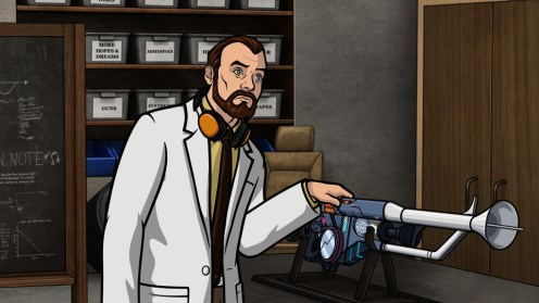 """ARCHER: Episode 4, Season 6 """"Edie's Wedding"""" (Airing Thursday, January 29, 10:00 PM e/p) Pam takes Archer to her sister's wedding but gets side-tracked with technical difficulties. Pictured: Dr. Krieger (voice of Lucky Yates). CR: FX"""