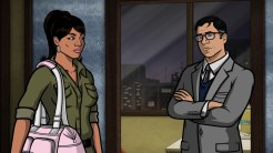 "ARCHER: Episode 4, Season 6 ""Edie's Wedding"" (Airing Thursday, January 29, 10:00 PM e/p) Pam takes Archer to her sister's wedding but gets side-tracked with technical difficulties. Pictured: (L-R) Lana Kane (voice of Aisha Tyler), Cyril Figgis (voice of Chris Parnell). CR: FX"