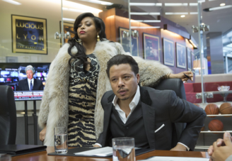 EMPIRE: Cookie Lyon (Taraji P. Henson, L) visits Lucious Lyon (Terrence Howard, R) to claim her share of the company in the premiere episode of EMPIRE airing Wednesday, Jan. 7 (9:00-10:00 PM ET/PT) on FOX. ©2014 Fox Broadcasting Co. CR: Chuck Hodes/FOX