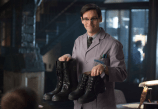 """GOTHAM: Edward Nygma (Cory Michael Smith) suggests Detectives James Gordon and Harvey Bullock wear protective boots in the """"What The Little Bird Told Him"""" episode of GOTHAM airing Monday, Jan. 19 (8:00-9:00 PM ET/PT) on FOX. ©2014 Fox Broadcasting Co. Cr: Jessica Miglio/FOX"""