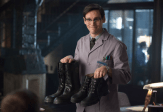 "GOTHAM: Edward Nygma (Cory Michael Smith) suggests Detectives James Gordon and Harvey Bullock wear protective boots in the ""What The Little Bird Told Him"" episode of GOTHAM airing Monday, Jan. 19 (8:00-9:00 PM ET/PT) on FOX. ©2014 Fox Broadcasting Co. Cr: Jessica Miglio/FOX"