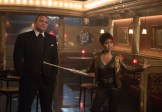 """GOTHAM: Fish Mooney (Jada Pinkett Smith, R) and Butch Gilzean (guest star Drew Powell, L) pay Oswald Cobblepot a visit in the """"Welcome Back, Jim Gordon"""" episode of GOTHAM airing Monday, Jan. 26 (8:00-9:00 PM ET/PT) on FOX. ©2015 Fox Broadcasting Co. Cr: Jessica Miglio/FOX"""