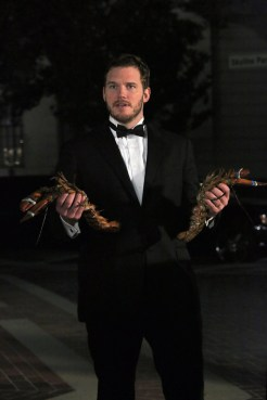 """PARKS AND RECREATION -- """"2017"""" Episode 701 -- Pictured: Chris Pratt as Andy Dwyer -- (Photo by: Byron Cohen/NBC)"""