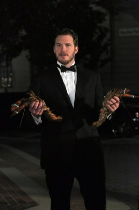"PARKS AND RECREATION -- ""2017"" Episode 701 -- Pictured: Chris Pratt as Andy Dwyer -- (Photo by: Byron Cohen/NBC)"