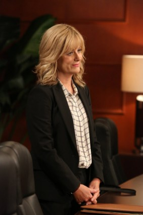 """PARKS AND RECREATION -- """"2017"""" Episode 701 -- Pictured: Amy Poehler as Leslie Knope -- (Photo by: Danny Feld/NBC)"""