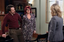 """PARKS AND RECREATION -- """"Ron and Jammy"""" Episode 702 -- Pictured: (l-r) Jon Glaser as Councilman Jamm, Megan Mullally as Tammy, Amy Poehler as Amy Poehler -- (Photo by: Danny Feld/NBC)"""