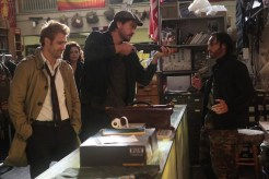 "CONSTANTINE -- ""Quid Pro Quo"" Episode 110 -- Pictured: (l-r) Matt Ryan as Constantine, Anjelica Celaya as Zed, Charles Halford as Chas, Roger Floyd as Fennel -- (Photo by: Annette Brown/NBC)"