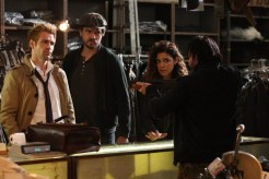 """CONSTANTINE -- """"Quid Pro Quo"""" Episode 110 -- Pictured: (l-r) Matt Ryan as Constantine, Charles Halford as Chas, Anjelica Celaya as Zed, Roger Floyd as Fennel -- (Photo by: Annette Brown/NBC)"""