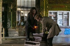 "CONSTANTINE -- ""Quid Pro Quo"" Episode 110 -- Pictured: (l-r) Anjelica Celaya as Zed, Matt Ryan as Constantine -- (Photo by: Tina Rowden/NBC)"