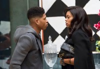 """EMPIRE: Hakeem (Bryshere Gray, L) and Cookie (Taraji P. Henson, R) chat in the """"Out Damned Spot"""" episode of EMPIRE airing Wednesday, Feb. 11 (9:01-10:00 PM ET/PT) on FOX. ©2015 Fox Broadcasting Co. CR: Chuck Hodes/FOX"""