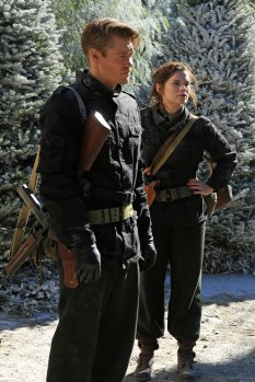 """MARVEL'S AGENT CARTER - """"The Iron Ceiling"""" - Peggy is finally trusted with a mission and calls upon her trusted Howling Commandos squad for backup. But her cover could be at risk when SSR Chief Dooley also sends Agent Thompson with her, on """"Marvel's Agent Carter,"""" TUESDAY, FEBRUARY 3 (9:00-10:00 p.m., ET) on the ABC Television Network. (ABC/Matt Kennedy) CHAD MICHAEL MURRAY, HAYLEY ATWELL"""