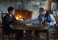 """GOTHAM: Maroni (guest star David Zayas, R) tests Oswald Cobblepot's (Robin Lord Taylor, L) loyalty in the """"The Fearsome Dr. Crane"""" episode of GOTHAM airing Monday, Feb. 2 (8:00-9:00 PM ET/PT) on FOX. ©2015 Fox Broadcasting Co. Cr: Jessica Miglio/FOX"""