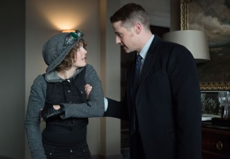 "GOTHAM: Detective James Gordon (Ben McKenzie, R) discovers that Selina Kyle (Camren Bicondova, L) has been staying in Barbara's apartment in the ""The Fearsome Dr. Crane"" episode of GOTHAM airing Monday, Feb. 2 (8:00-9:00 PM ET/PT) on FOX. ©2015 Fox Broadcasting Co. Cr: Jessica Miglio/FOX"