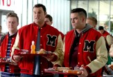 "GLEE: L-R: Dave (Max Adler, C) and Puck (Mark Salling, R) make fun of Kurt and Rachel in a flashback to 2009 in the special two-hour ""2009/Dreams Come True"" Series Finale episode of GLEE airing Friday, March 20 (8:00-10:00 PM ET/PT) on FOX. ©2015 Fox Broadcasting Co. CR: Mike Yarish/FOX"