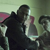 """Arrow -- """"Suicidal Tendencies"""" -- Image AR317_SG_0055 -- Pictured (L-R): Audrey Marie Anderson as Lyla Michaels David Ramsey as John Diggle, and Michael Rowe as Floyd Lawton / Deadshot -- Photo: The CW -- �© 2015 The CW Network, LLC. All Rights Reserved."""