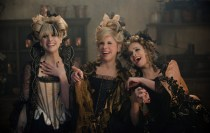 Lucinda (Lucy Punch), Cinderella's Stepmother (Christine Baranski) and Florinda (Tammy Blanchard) in Disney's INTO THE WOODS, directed by Rob Marshall, opening December 25, 2014.