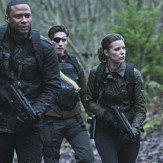 """Arrow -- """"Suicidal Tendencies"""" -- Image AR317_SG_0018 -- Pictured (L-R): David Ramsey as John Diggle, Michael Rowe as Floyd Lawton / Deadshot, Audrey Marie Anderson as Lyla Michaels, and Amy Gumenick as Carrie Cutter / Cupid -- Photo: The CW -- �© 2015 The CW Network, LLC. All Rights Reserved."""