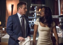 """The Flash -- """"All Star Team Up"""" -- Image FLA118A_0276b -- Pictured (L-R): Rick Cosnett as Detective Eddie Thawne and Candice Patton as Iris West -- Photo: Cate Cameron/The CW -- © 2015 The CW Network, LLC. All rights reserved."""