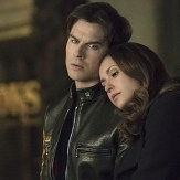 """The Vampire Diaries -- """"I Never Could Love Like That"""" -- Image Number: VD618a_0028.jpg -- Pictured (L-R): Ian Somerhalder as Damon and Nina Dobrev as Elena -- Photo: Tina Rowden/The CW -- �© 2015 The CW Network, LLC. All rights reserved."""