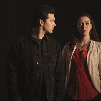 """The Vampire Diaries -- """"I'm Thinking of You All The While"""" -- Image Number: VD622c_0168.jpg -- Pictured (L-R): Michael Malarkey as Enzo and Annie Wersching as Lily -- Photo: Annette Brown/The CW -- �© 2015 The CW Network, LLC. All rights reserved."""