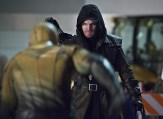 """The Flash -- """"Rogue Air"""" -- Image FLA122B_0425bc -- Pictured: Stephen Amell as Oliver Queen / Arrow -- Photo: Diyah Pera/The CW -- �© 2015 The CW Network, LLC. All rights reserved."""