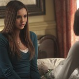 """The Vampire Diaries -- """"I'm Thinking of You All The While"""" -- Image Number: VD622b_0413.jpg -- Pictured (L-R): Nina Dobrev as Elena and Kat Graham as Bonnie (back to camera) -- Photo: Annette Brown/The CW -- �© 2015 The CW Network, LLC. All rights reserved."""