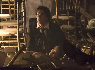 """The Vampire Diaries -- """"I'm Thinking of You All The While"""" -- Image Number: VD622a_0026.jpg -- Pictured (L-R): Ian Somerhalder as Damon and Nina Dobrev as Elena -- Photo: Tina Rowden/The CW -- © 2015 The CW Network, LLC. All rights reserved."""