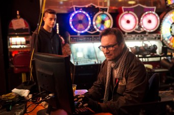 "MR. ROBOT -- ""Pilot"" Episode 101 -- Pictured: (l-r) Rami Malek as Elliot, Christian Slater as Mr. Robot -- (Photo by: David Giesbrecht/USA Network)"