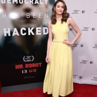"""MR. ROBOT -- """"Tribeca Film Festival Premiere of ?MR. ROBOT? in New York, NY on Sunday, April 26, 2015 """" -- Pictured: Emmy Rossum -- (Photo by: Neilson Barnard/USA Network)"""