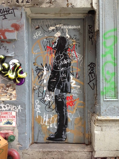 #MrRobot Street Art located at Canal and Cortlandt Alley, NY