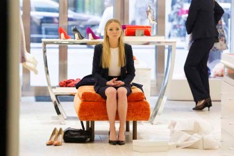 """MR. ROBOT -- """"zer0-day.avi"""" Episode 110 -- Pictured: Portia Doubleday as Angela Moss -- (Photo by: Christopher Saunders/USA Network)"""