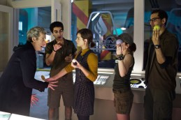 Picture shows: Peter Capaldi as the Doctor, Zaqi Ismail as Lunn, Jenna Coleman as Clara, Morven Christie as O'Donnell and Arsher Ali as Bennett