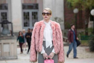 "SCREAM QUEENS: Emma Roberts as Chanel Oberlin in ""Pilot,"" the first part of the special, two-hour series premiere of SCREAM QUEENS airing Tuesday, Sept. 22 (8:00-10:00 PM ET/PT) on FOX. ©2015 Fox Broadcasting Co. Cr: Steve Dietl/FOX."