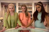 "SCREAM QUEENS: Pictured L-R: Abigail Breslin as Chanel #5, Billie Lourd as Chanel #3 and guest star Ariana Grande as Chanel #2 in ""Pilot,"" the first part of the special, two-hour series premiere of SCREAM QUEENS airing Tuesday, Sept. 22 (8:00-10:00 PM ET/PT) on FOX. ©2015 Fox Broadcasting Co. Cr: Steve Dietl/FOX."