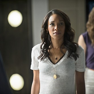 """The Flash -- """"The Man Who Saved Central City"""" -- Image FLA201b_0443b.jpg -- Pictured (L-R): Candice Patton as Iris West and Danielle Panabaker as Caitlin Snow -- Photo: Cate Cameron /The CW -- �© 2015 The CW Network, LLC. All rights reserved."""