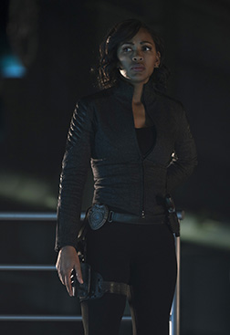 "MINORITY REPORT: Meagan Good in the all-new ""Everybody Runs"" season finale episode of MINORITY REPORT airing Monday, Nov. 30 (9:00-10:00 PM ET/PT) on FOX. Cr: Katie Yu / FOX. © 2015 FOX Broadcasting."