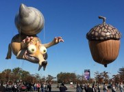MACY'S THANKSGIVING DAY PARADE -- The 89th Annual Macy's Thanksgiving Day Parade -- Pictured: Ice Age's Scrat and his Acorn, new balloon -- (Photo by: Macy's, Inc.)