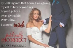 COVER REVEAL: 'Politically Incorrect' by Jeanne McDonald