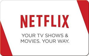 We So Nerdy 2016 Holiday Giveaway; Image of a Netflix Gift Card (Photo Credit: Amazon)