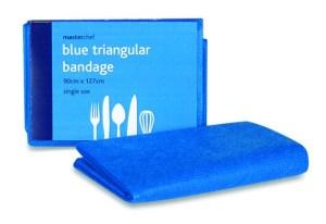 Blue Triangular Bandage