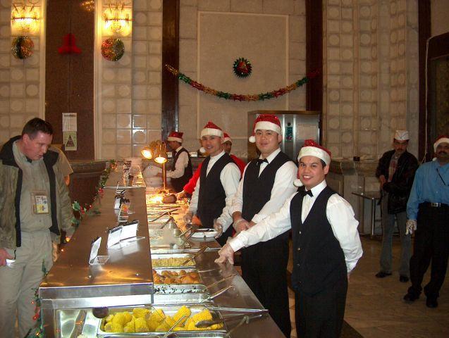 Christmas At KBR Mess Hall Baghdad Iraq