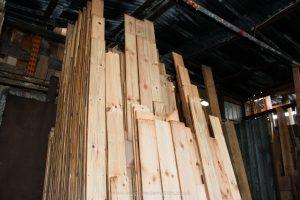 Reclaimed Pine Boards Stock