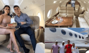 Cristiano Ronaldo flaunts his £20 million private jet