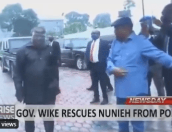 Wike storms Nunieh former NDDC boss residence chase armed policemen away