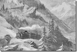 Fell'sche Bahn am Mont Cenis