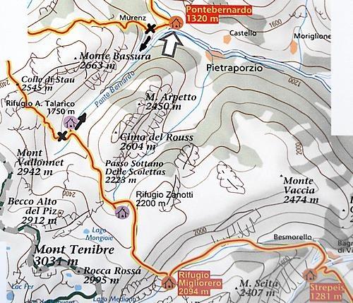 Via Alpina im Sturatal, Posto Tappa Pontebernardo
