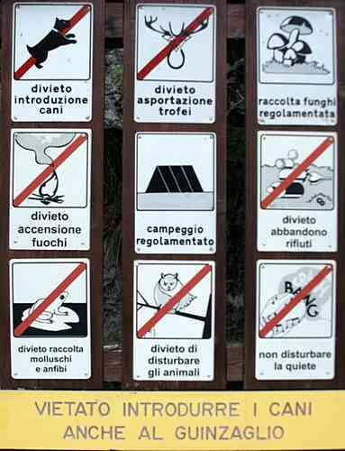 Hunde - auch angeleint - verboten!