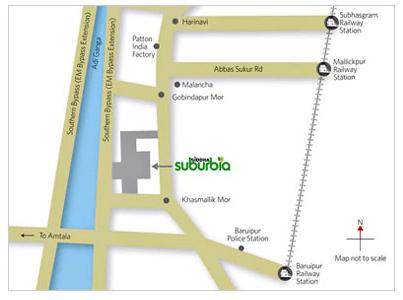 Siddha Suburbia Location