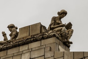 Reading for Education. Statue, The Grand Bingo, Westbourne