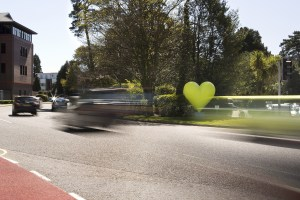 LV Insurance (LV=) Heart on the Roundabout.